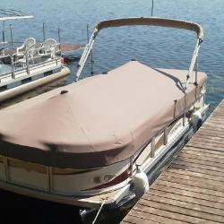 Custom pontoon snap on cover.